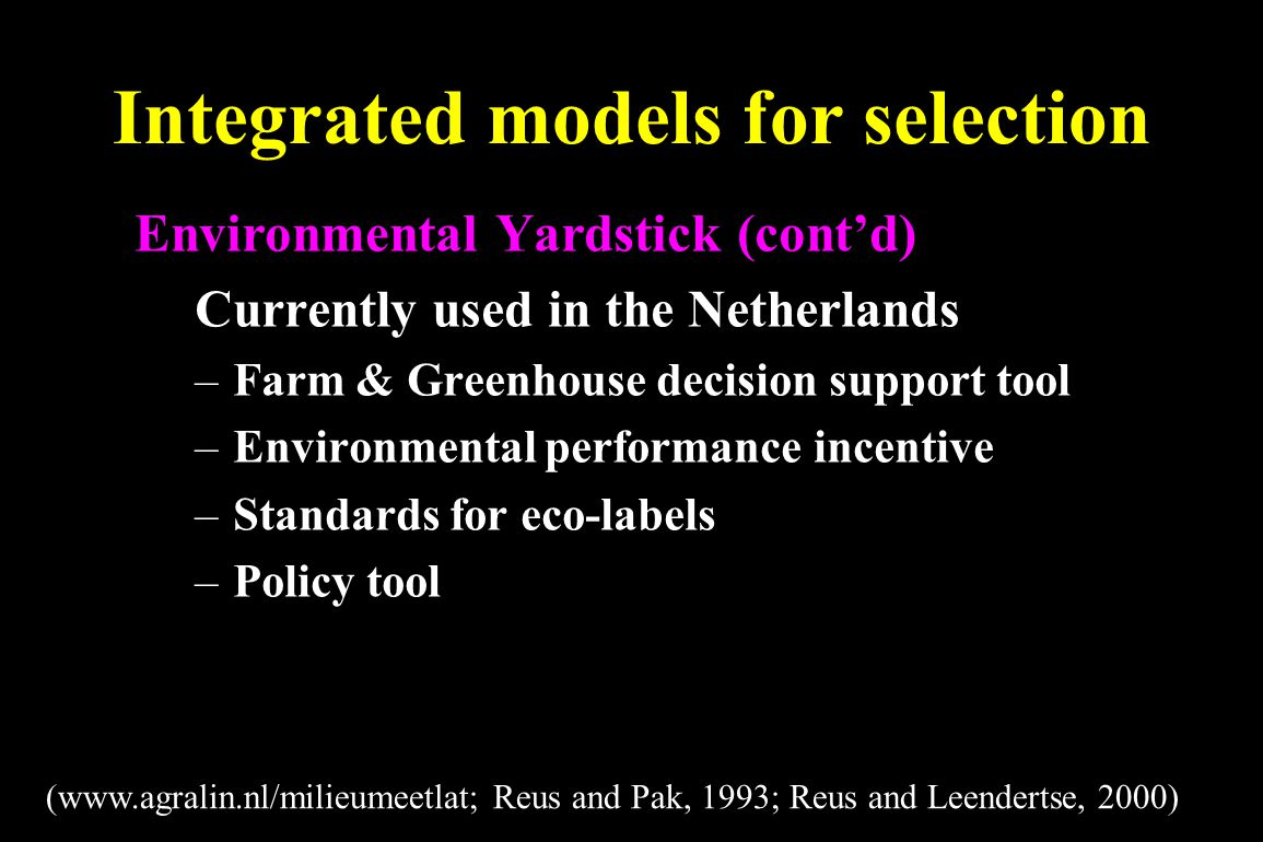 Integrated models for selection