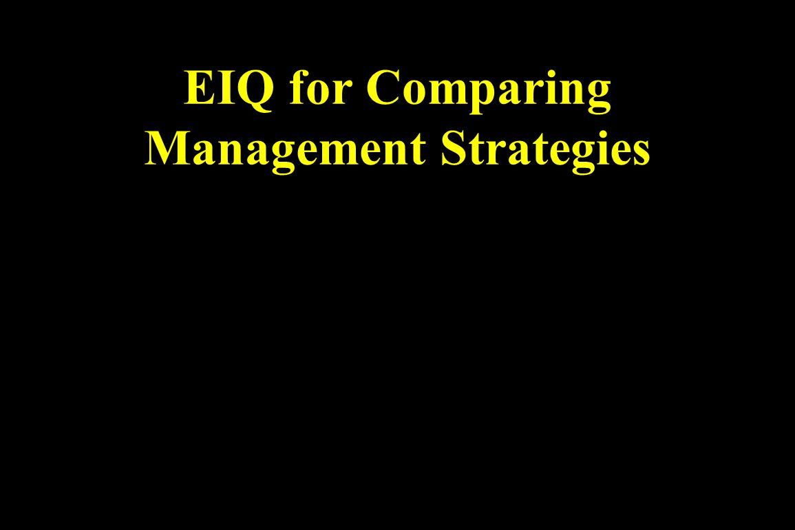 EIQ for Comparing Management Strategies