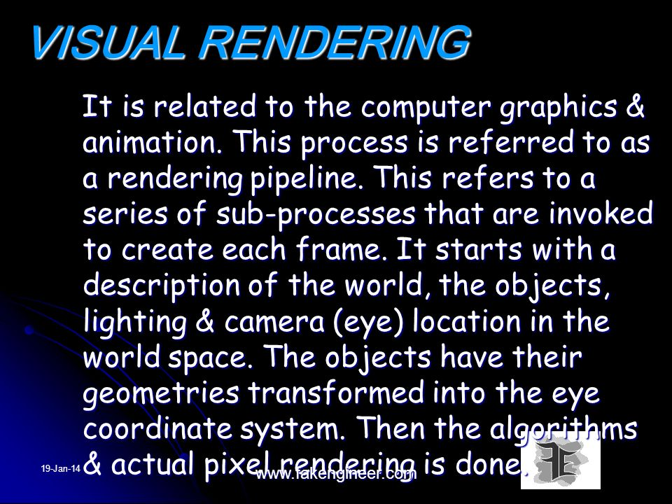 VISUAL RENDERING
