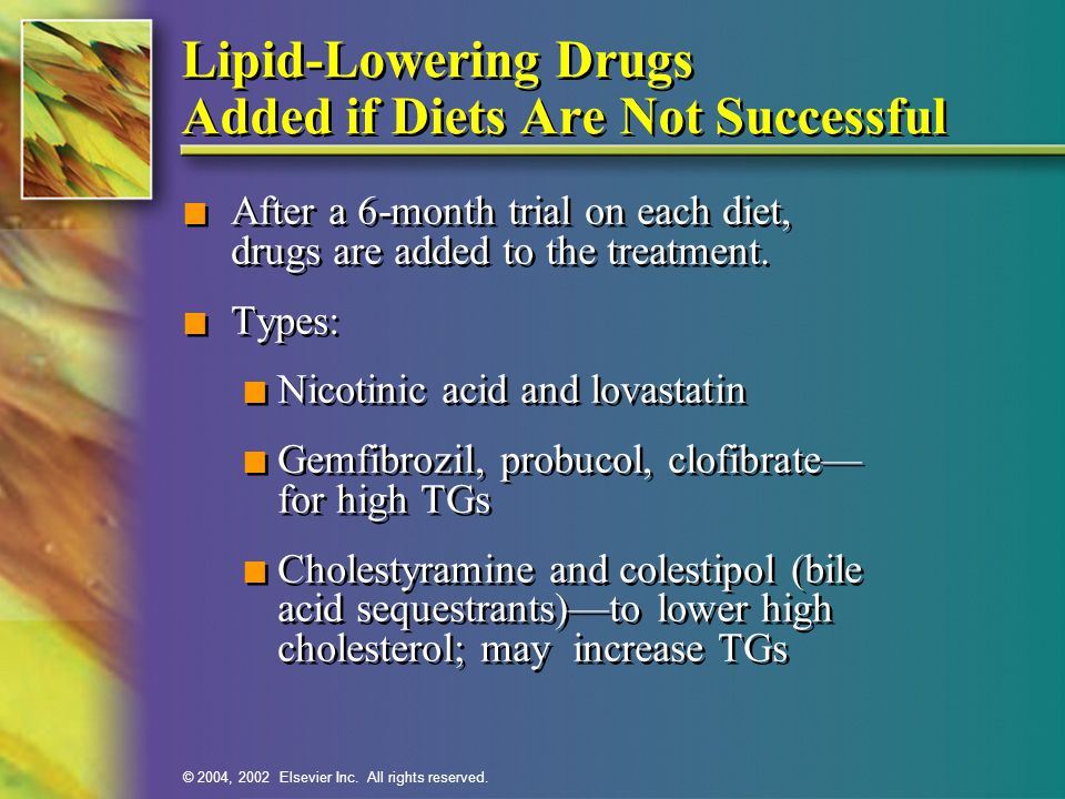 Lipid-Lowering Drugs Added if Diets Are Not Successful