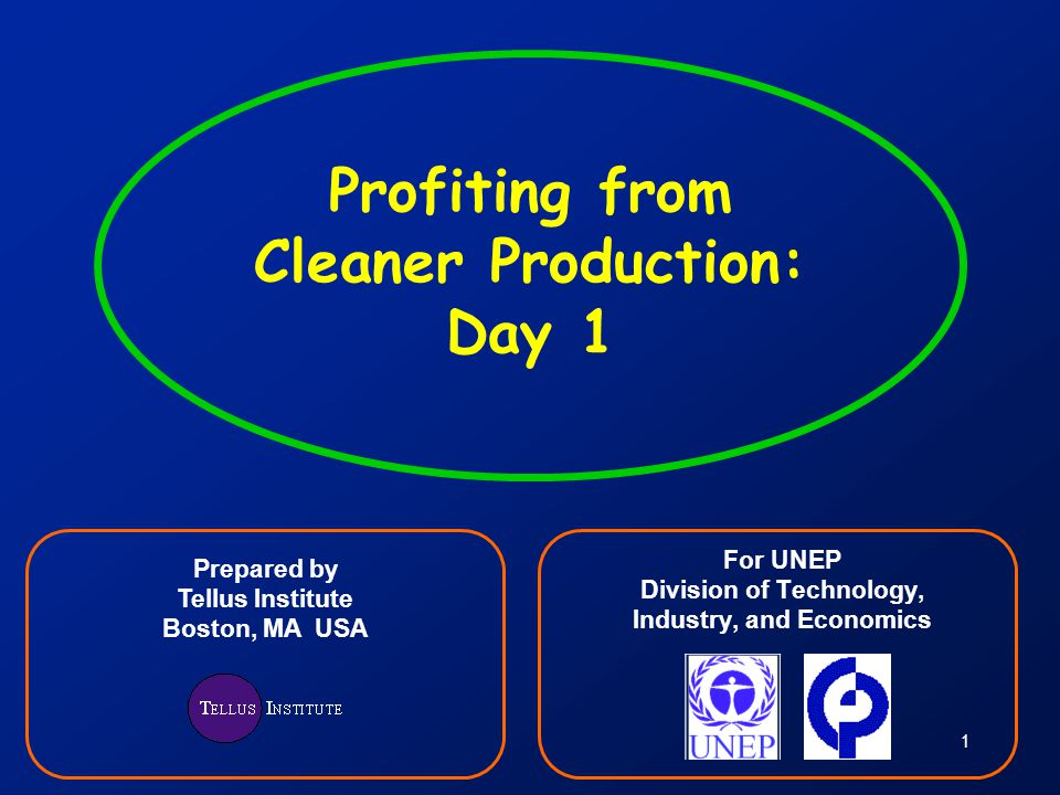 Profiting from Cleaner Production: Day 1