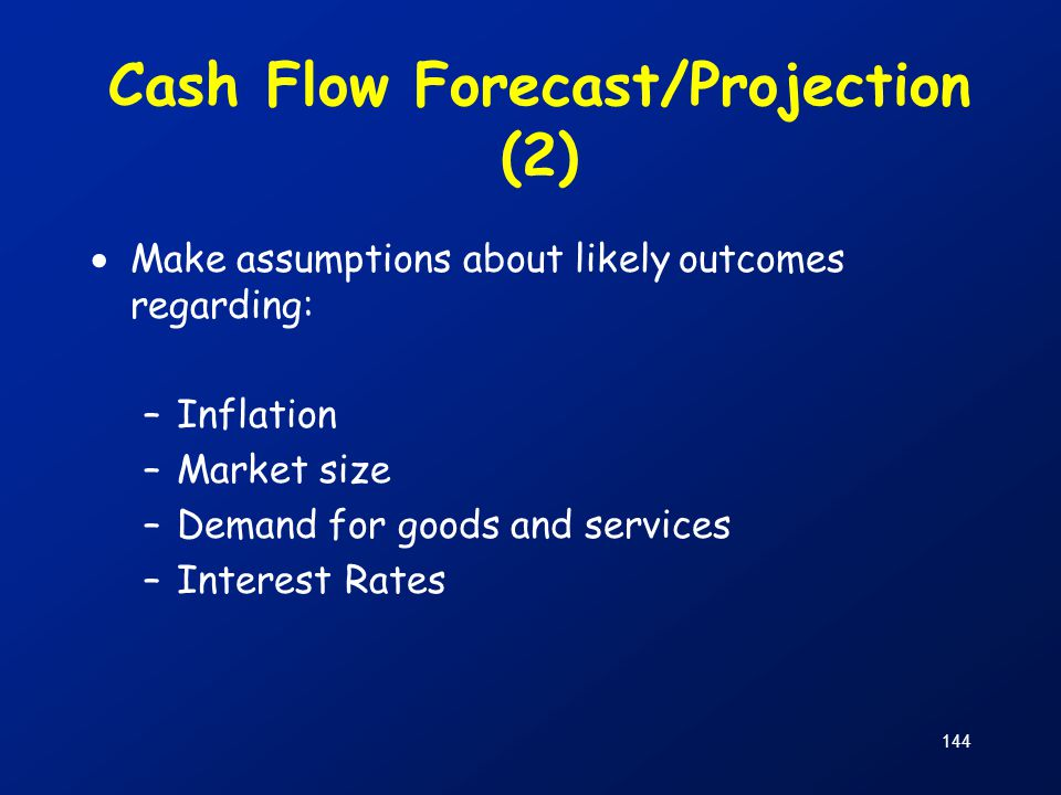 Cash Flow Forecast/Projection (2)