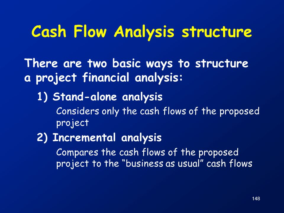 Cash Flow Analysis structure