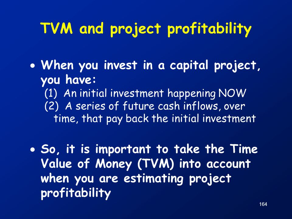 TVM and project profitability