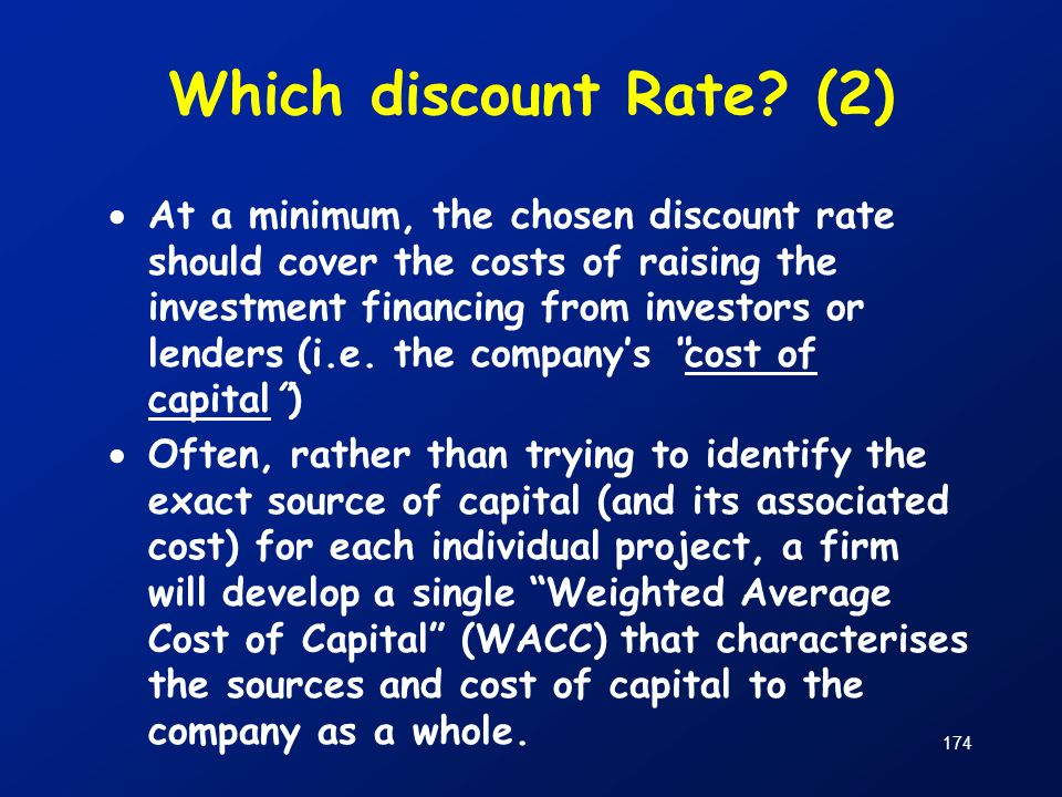 Which discount Rate (2)