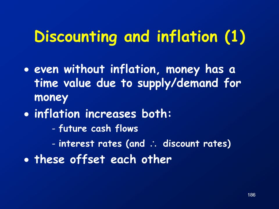 Discounting and inflation (1)