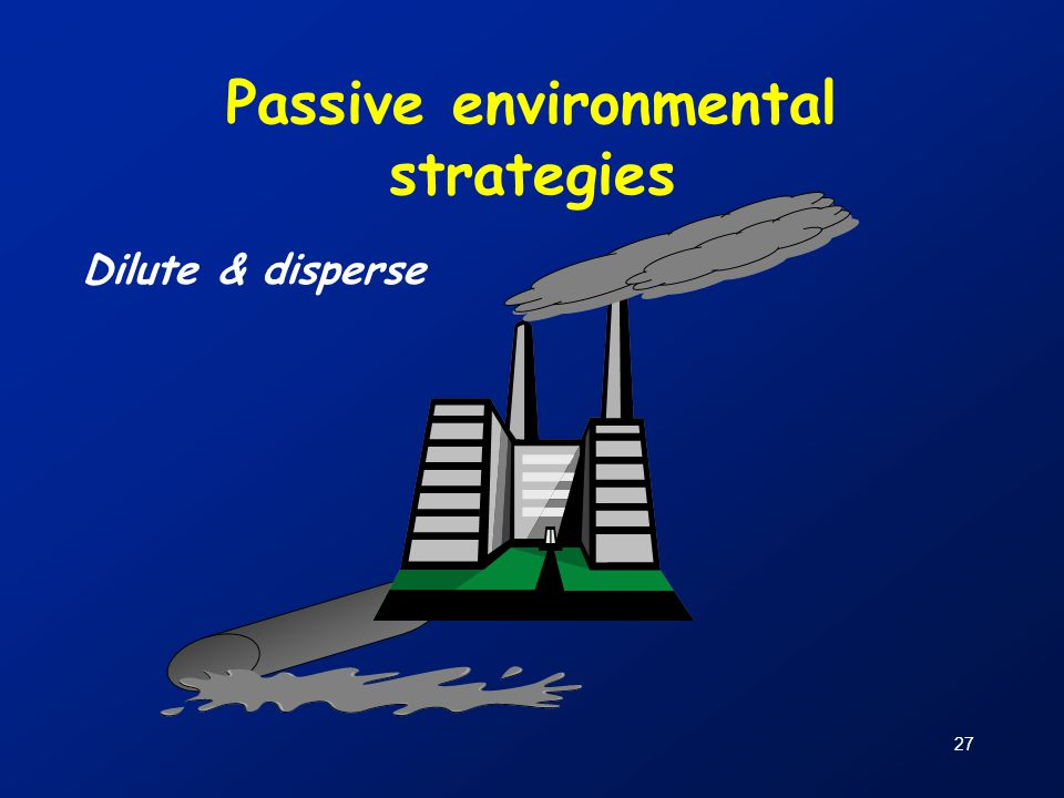 Passive environmental strategies