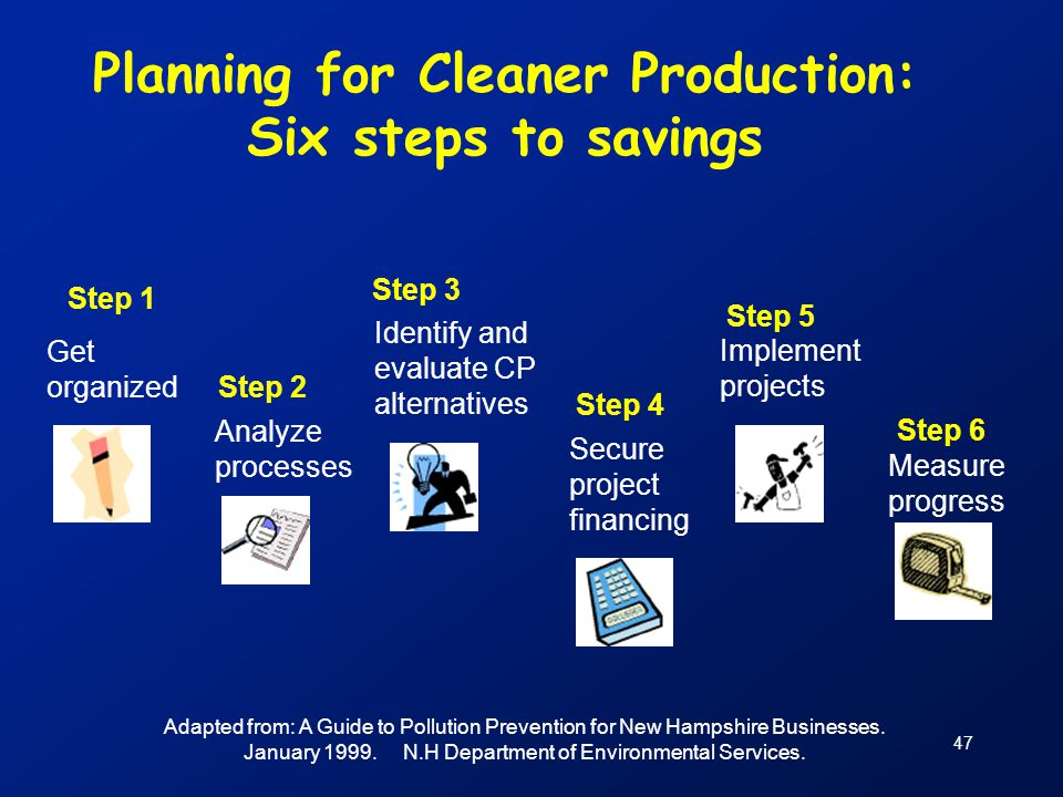 Planning for Cleaner Production: