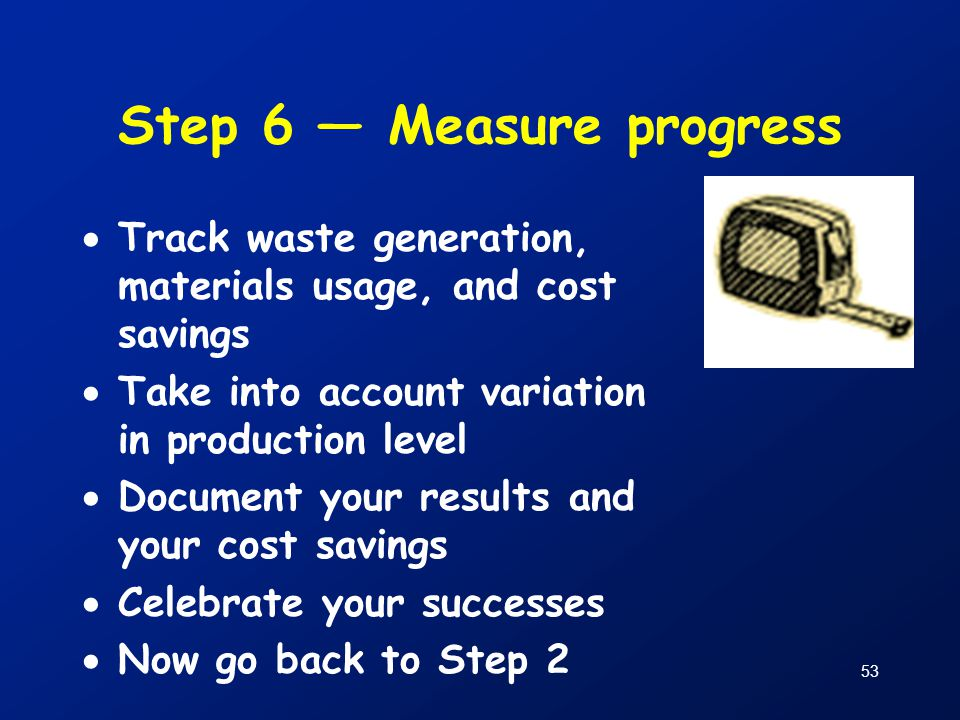 Step 6 — Measure progress