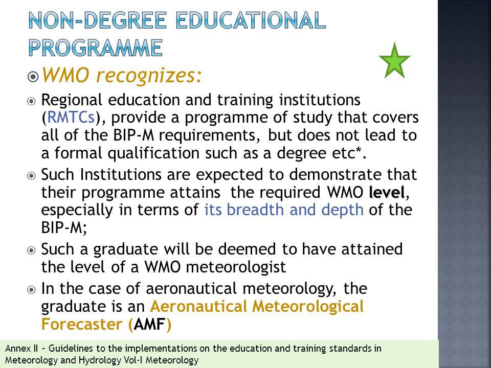 Non-degree educational programme