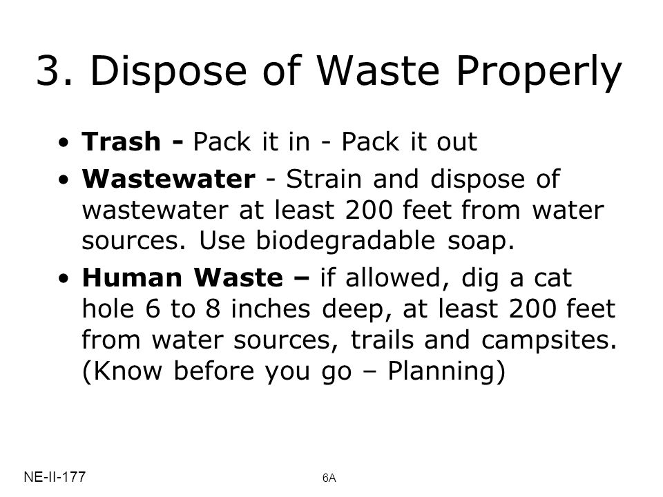 3. Dispose of Waste Properly
