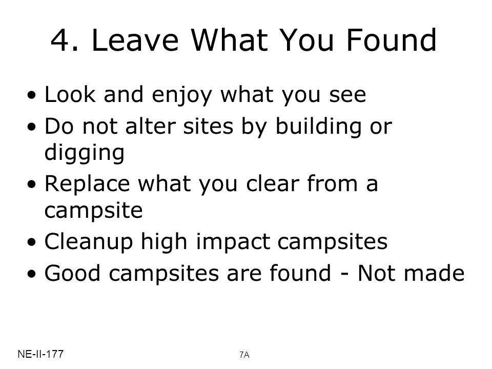 4. Leave What You Found Look and enjoy what you see
