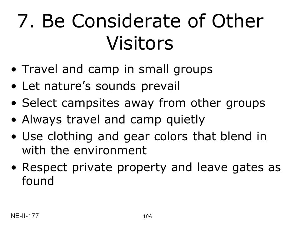 7. Be Considerate of Other Visitors