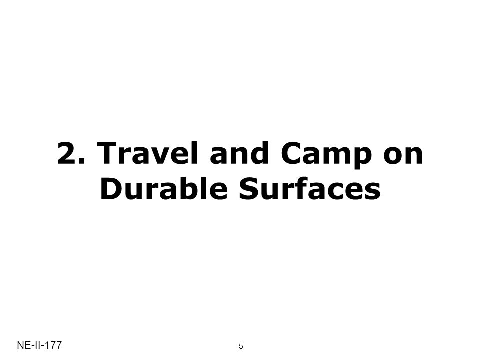 2. Travel and Camp on Durable Surfaces