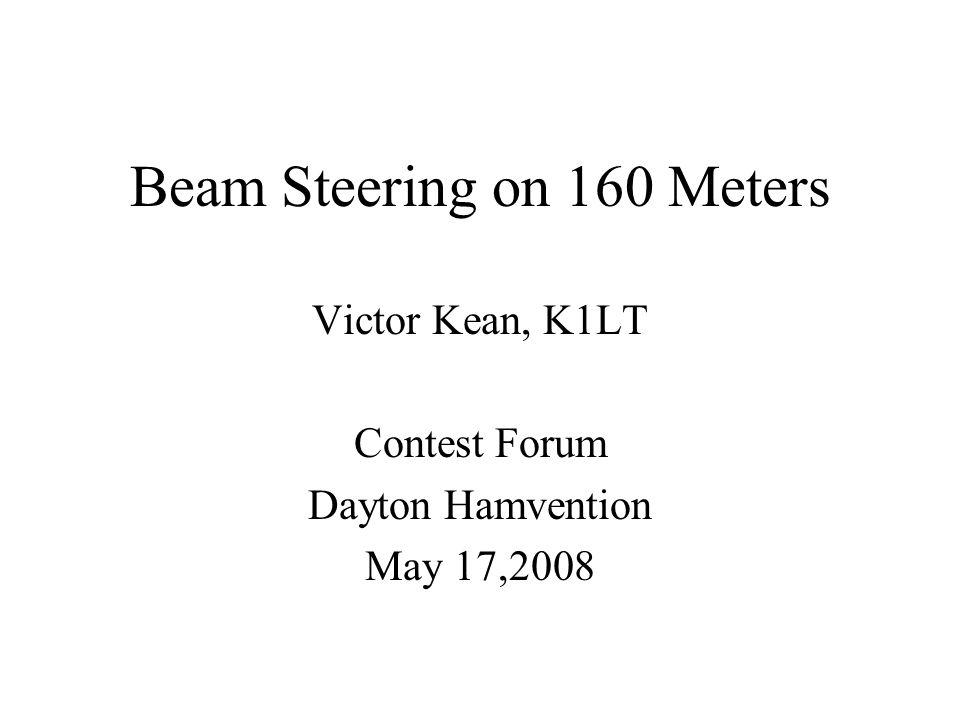 Beam Steering on 160 Meters