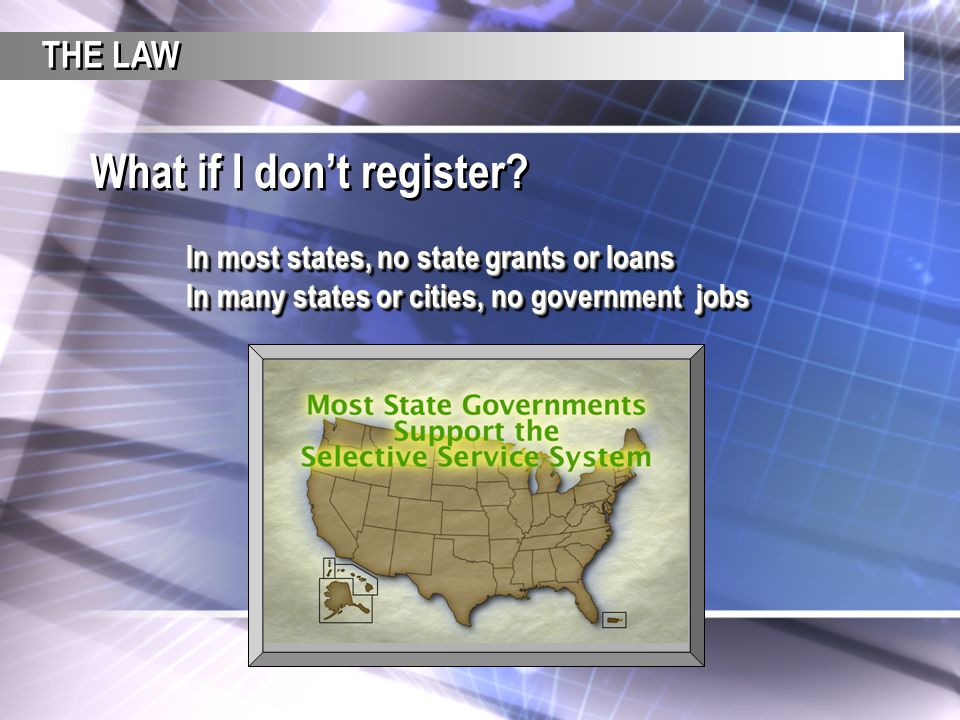 What if I don't register