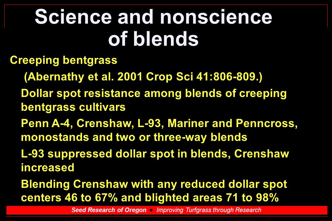 Science and nonscience of blends
