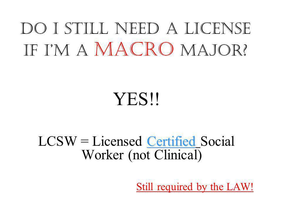 Do I still need a license if I'm a Macro major