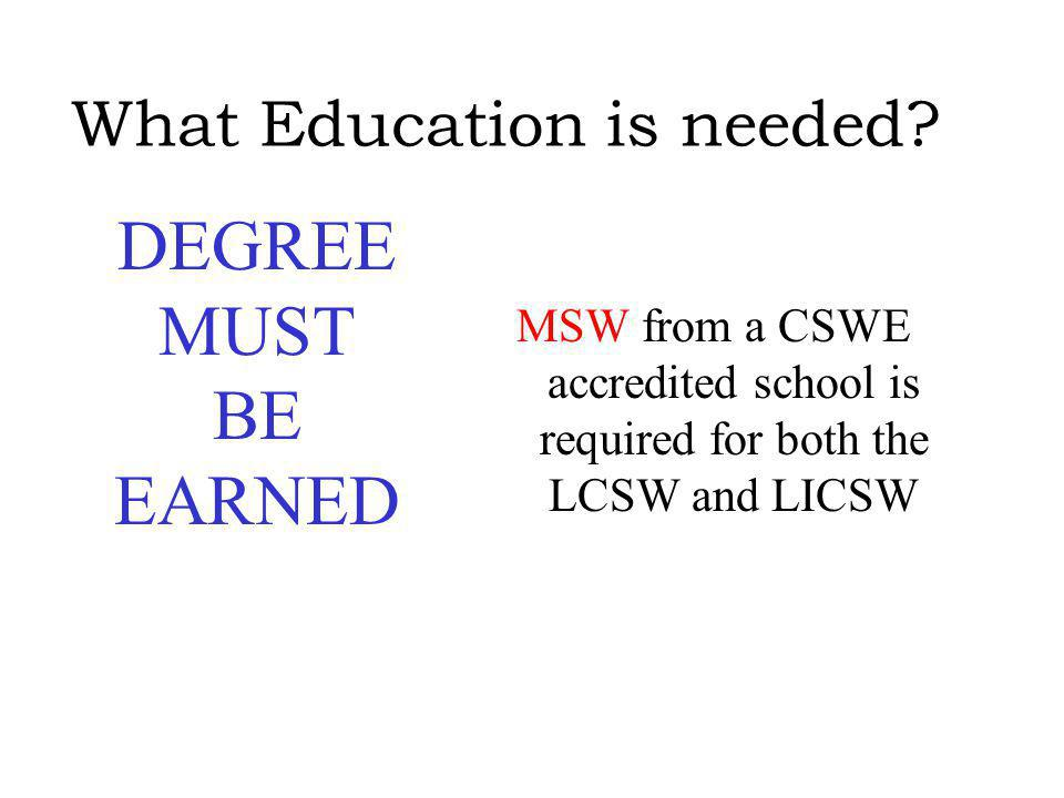 What Education is needed