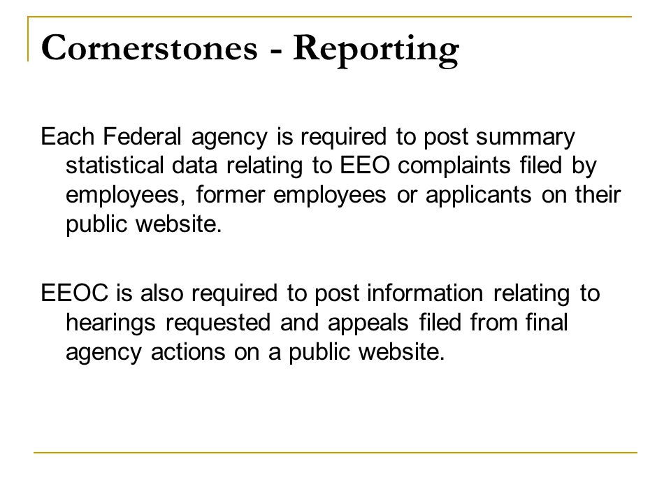 Cornerstones - Reporting
