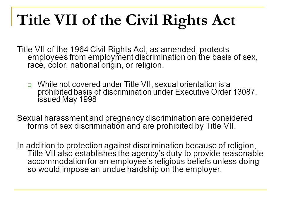 Title VII of the Civil Rights Act