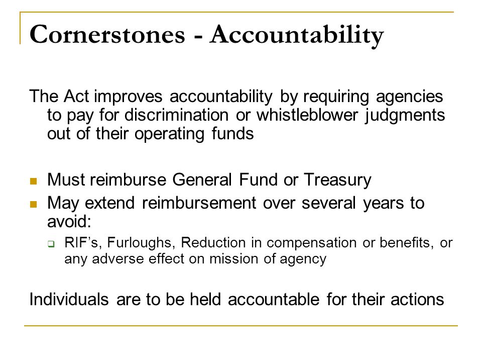 Cornerstones - Accountability