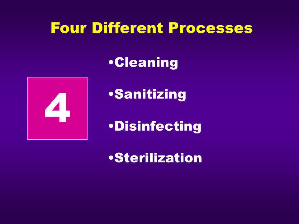 4 Four Different Processes Cleaning Sanitizing Disinfecting