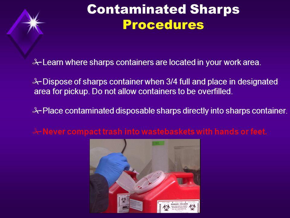 Contaminated Sharps Procedures