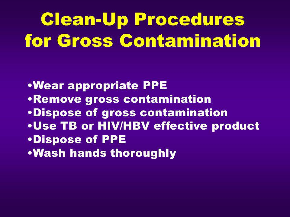 for Gross Contamination