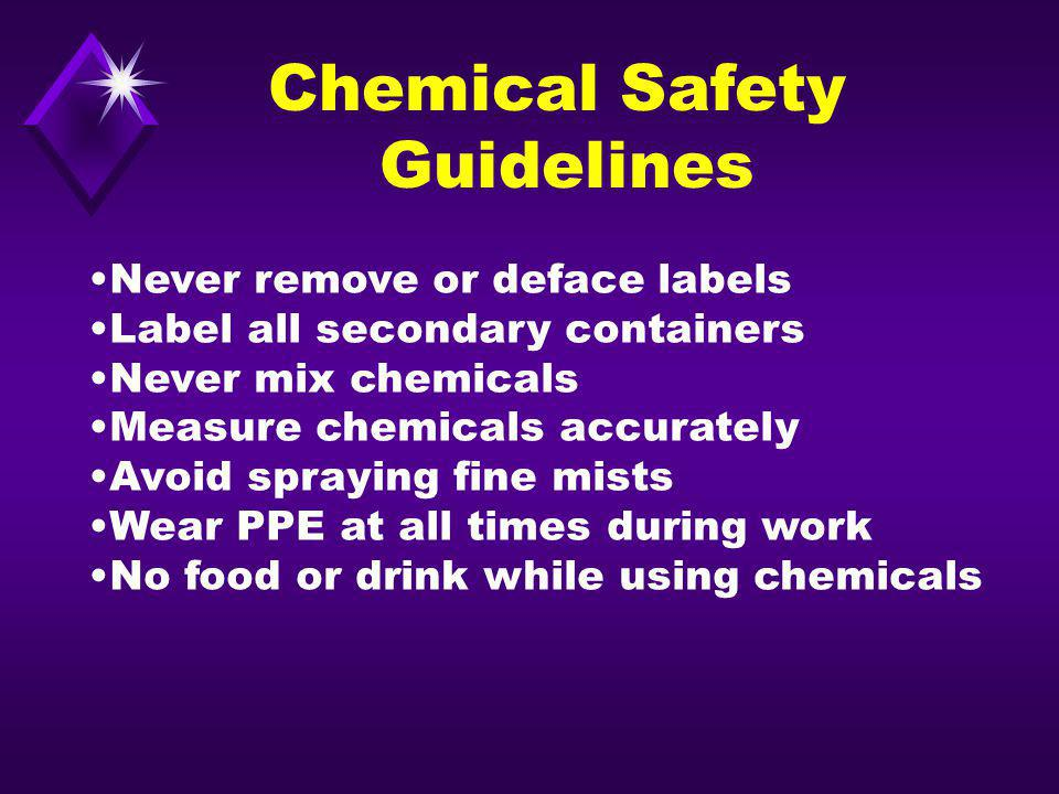 Chemical Safety Guidelines