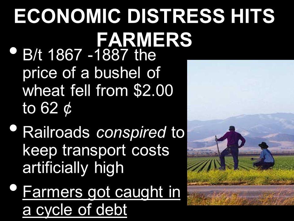 ECONOMIC DISTRESS HITS FARMERS