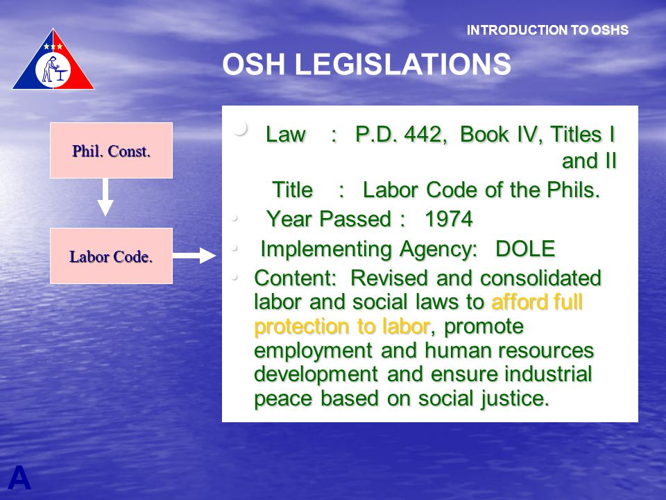 Law : P.D. 442, Book IV, Titles I and II