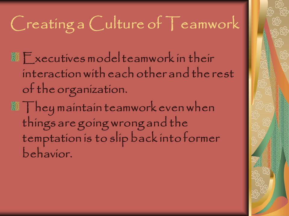 Creating a Culture of Teamwork