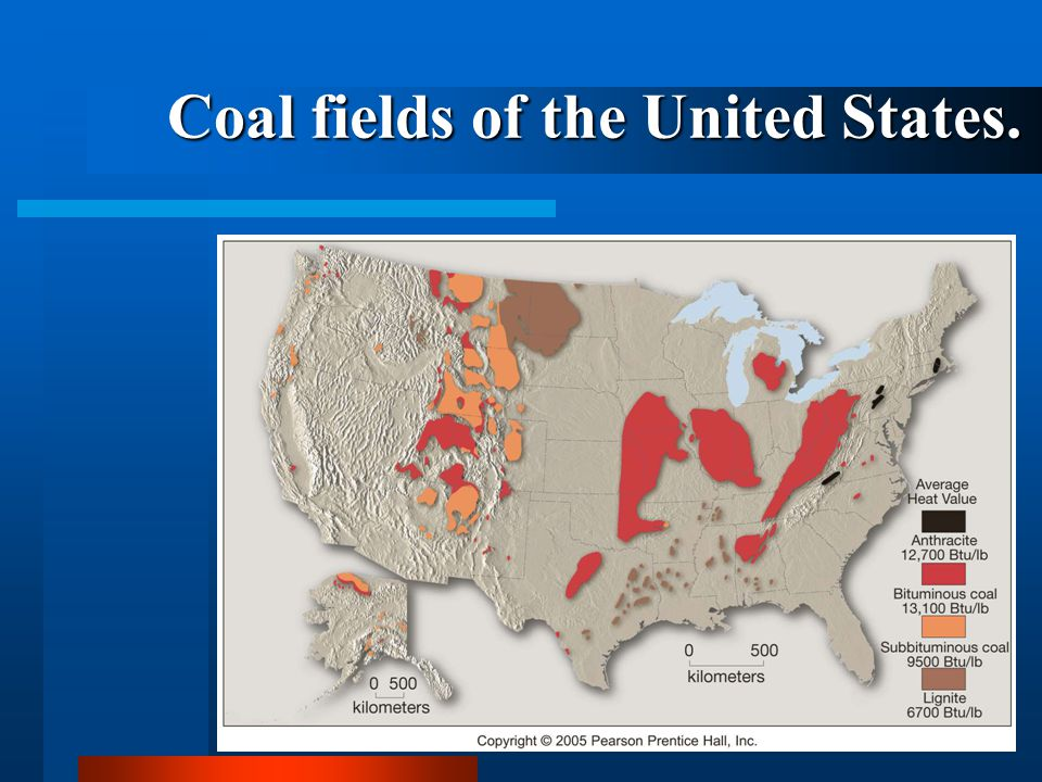 Coal fields of the United States.