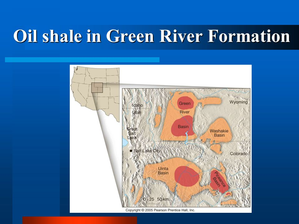 Oil shale in Green River Formation
