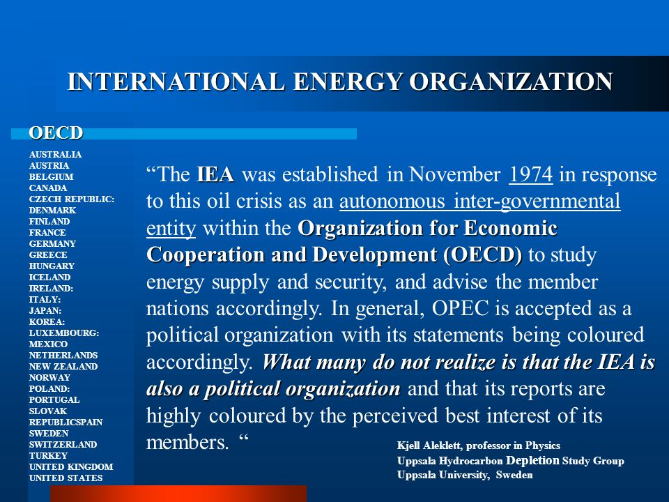 INTERNATIONAL ENERGY ORGANIZATION