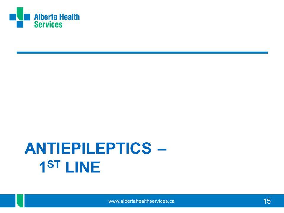 ANTIEPILEPTICS – 1ST LINE