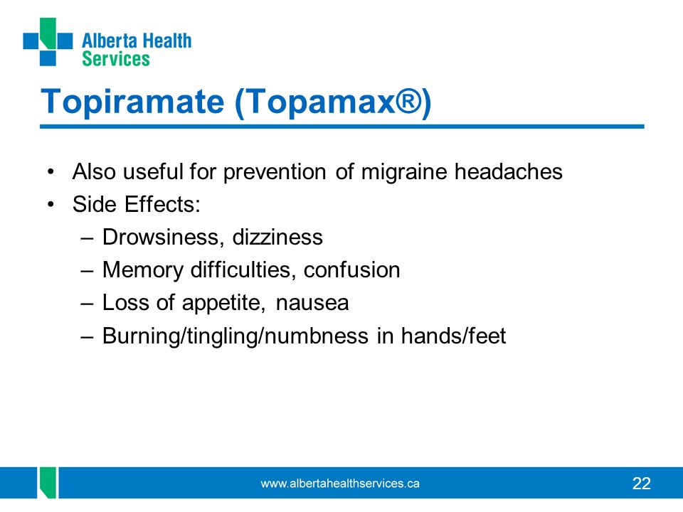 Topiramate For Migraines Side Effects