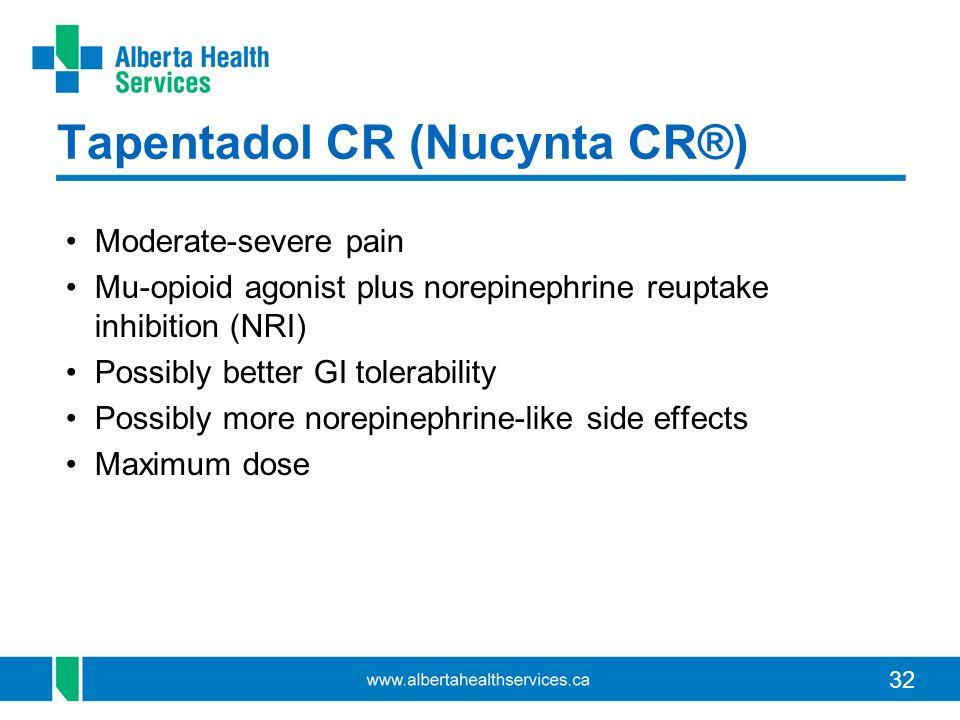 Tapentadol CR (Nucynta CR®)