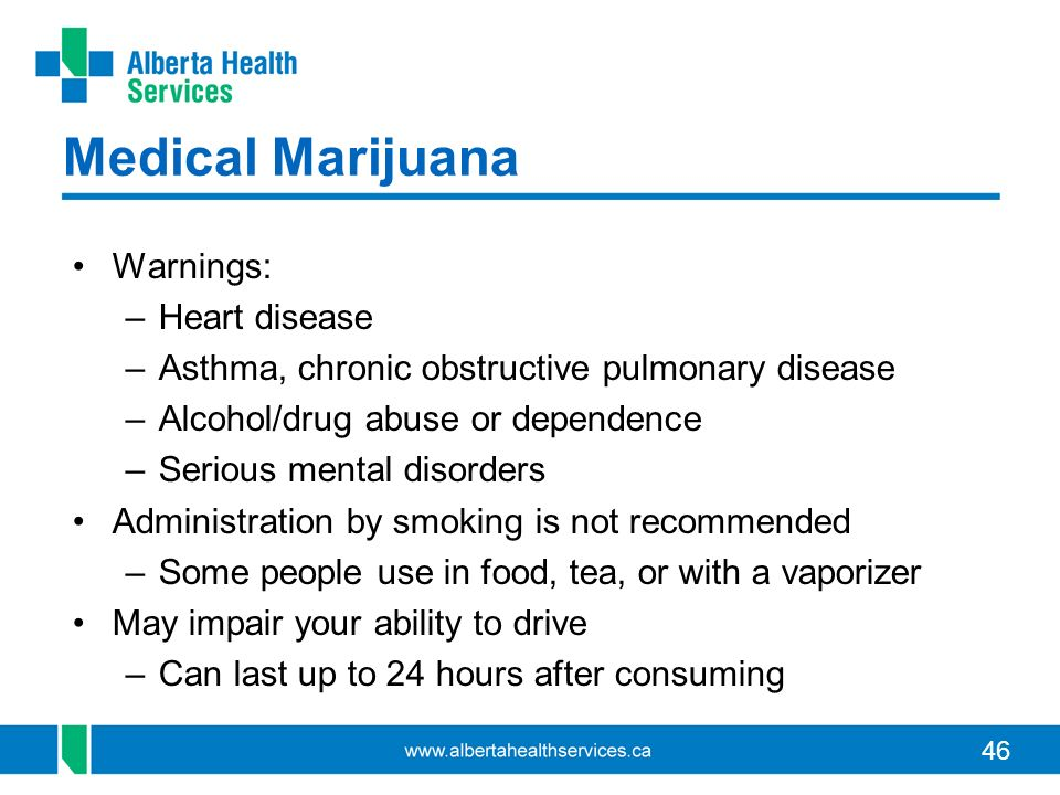 Medical Marijuana Warnings: Heart disease
