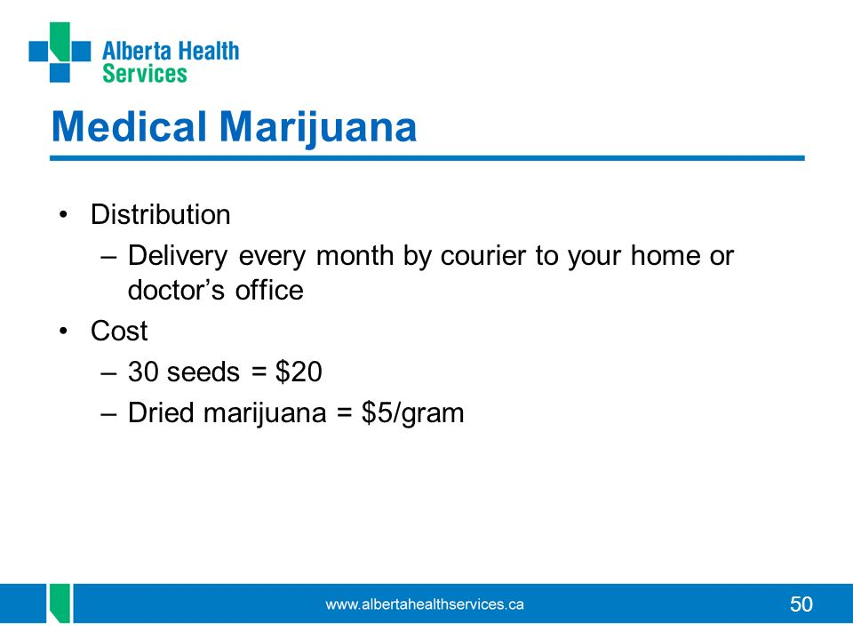 Medical Marijuana Distribution