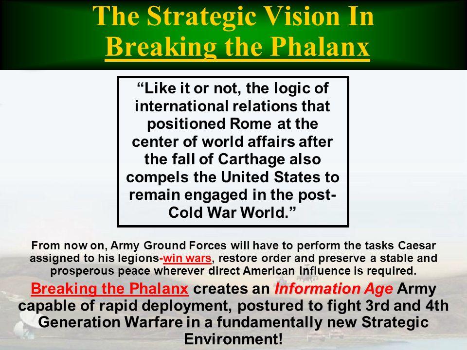 The Strategic Vision In Breaking the Phalanx