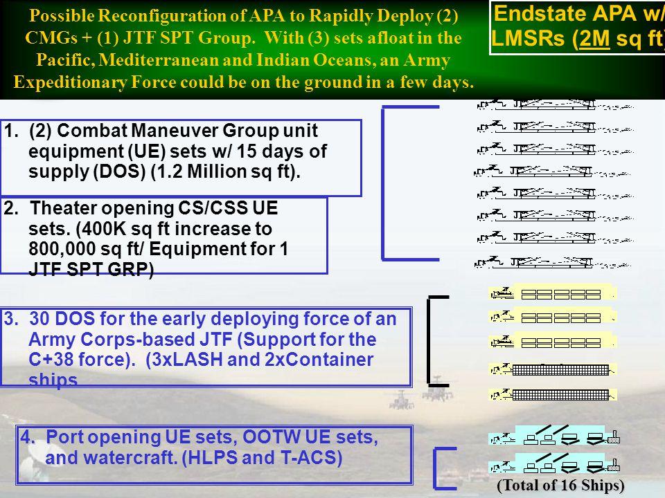 Endstate APA w/ LMSRs (2M sq ft)