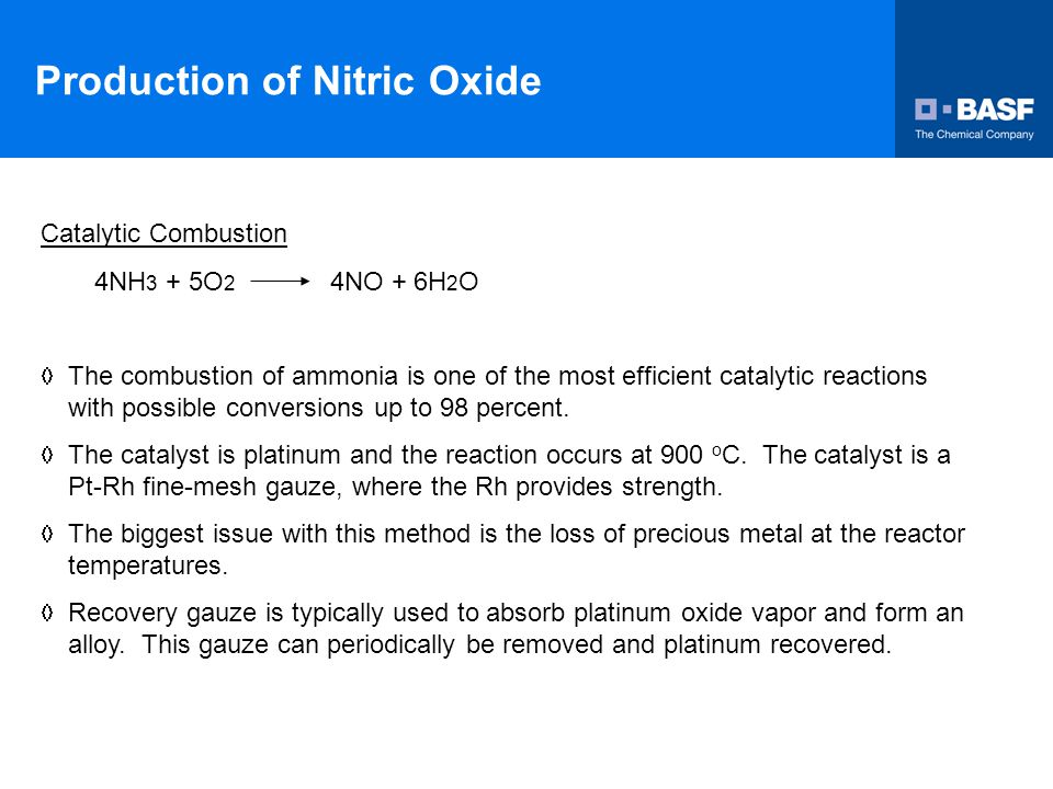 Production of Nitric Oxide