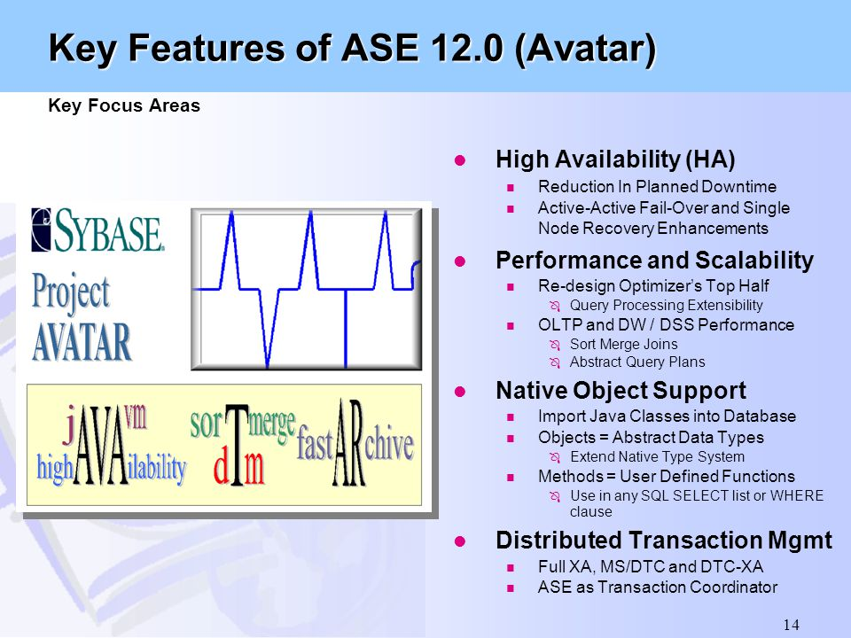 Key Features of ASE 12.0 (Avatar) Key Focus Areas
