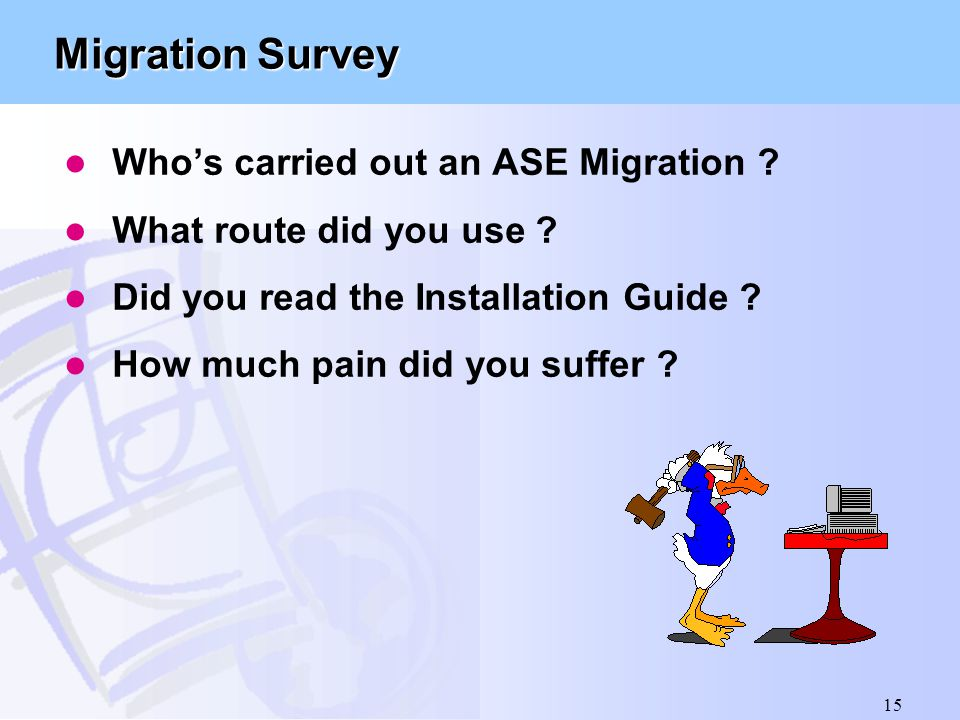 Why and How Migration Guide to ASE 11.9.2/12
