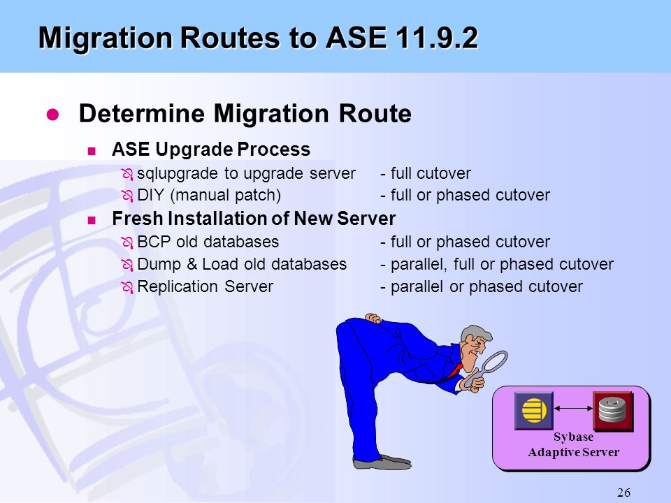 Migration Routes to ASE 11.9.2