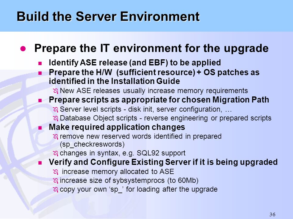 Build the Server Environment