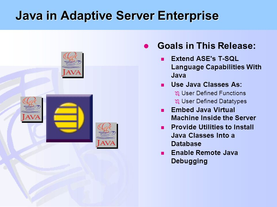 Java in Adaptive Server Enterprise