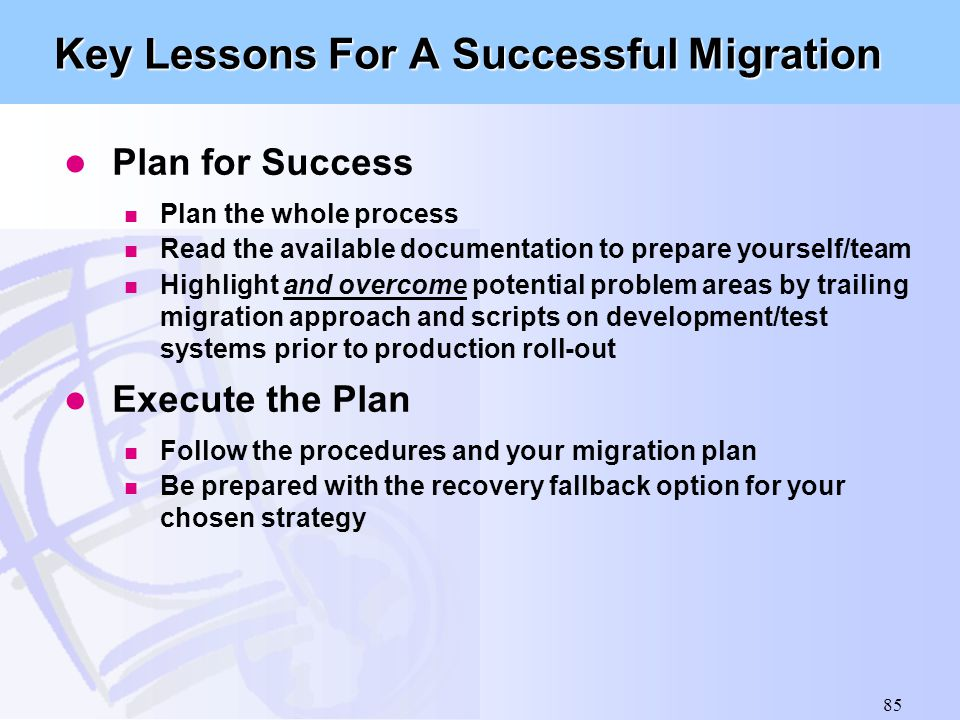 Key Lessons For A Successful Migration